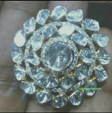 Natural Rose Cut &Diamond Victorian 925 Solid Silver Handmade Wedding Gift Ring
