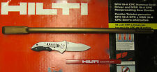 "HILTI 19"" NARROW-FLAT CHISEL TE-YP SPM 50/EXCELLENT CONDITION/FREE FOLDING KNIFE"