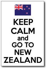 KEEP CALM AND GO TO NEW ZEALAND - Kiwi / Maori / Fun  Vinyl Sticker 15cm x 22 cm