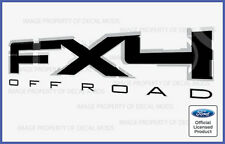 2009 Ford F150 FX4 Off Road Decals Stickers Black - Style FB Truck Bed Side