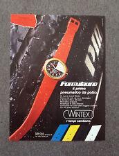 G068-Advertising Pubblicità-1984 - WINTEX OROLOGI FORMULAUNO PNEUMATICO DA POLSO