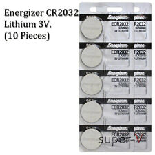 Energizer CR2032 ECR2032 3V Lithium Coin Battery (10 Coin Cells)