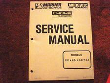 DEALER MANUAL- MARINER/MERCURY/ FORCE SERVICE MANUAL