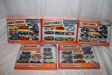 Mattel Matchbox Car 10 Pack, First, Exclusive, Off-Road, Showroom, City Heroes