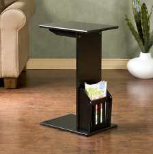 Small End Table Side Table For Small Spaces Sofa Storage RV TV Trays Dorm Black