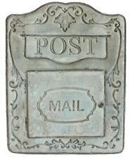 All Chic Handmade Aged Metal Mail Box Letter Post Door Garden Decor Rustic