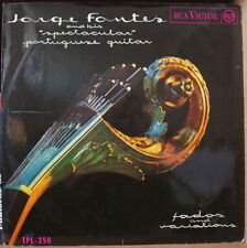 """JORGE FONTES  AND HIS """"SPECTACULAR"""" PORTUGUESE GUITAR FADOS AND VARIATIONS LP"""
