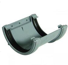 FLOPLAST 112mm Half Round Fascia Gutter Union Bracket - Grey