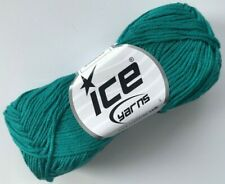 Teal Cotton Bamboo Yarn Ice #41445 Baby / Sport Weight 50 Gram 153 Yards
