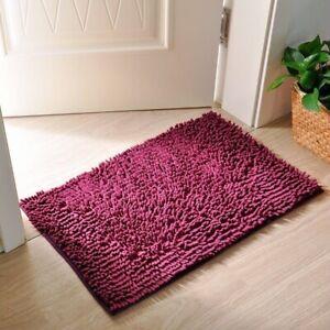 Soft Microfiber Shaggy Non-Slip Absorbent Bath Mat Bathroom Shower Rugs Carpet
