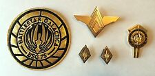 Battlestar Galactica Commander Rank Pins, Senior Wings, Dress Pin & Patch