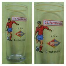 G798 GLAS BSG FORTSCHRITT GROßHARTHAU DFV DFB Fussball Sport DDR Oberliga Liga