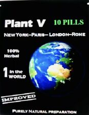 10 PLANT V Male Enhancement Sex Pills/ Erectile Support Travel Pack explosi xxxp