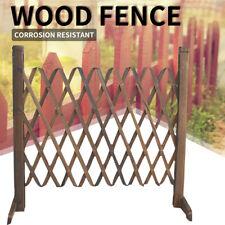 Expanding Portable Fence Wooden Screen Gate Pet Dog Patio Garden Lawn Barrier ~