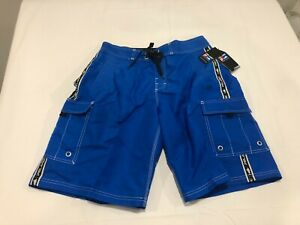 NWT $60.00 Pelagic Men Blackfin Classic Boashort Fishing Shorts Royal Blue Sz 32