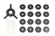 Bokeh Kit, 16 Stars shapes+holder. Universal Photo Camera Filter System 35-70mm