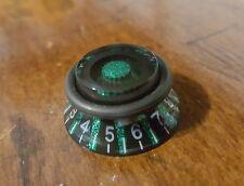 2 Guitar Speed Grip Top Hat Push/Pull Knobs.Green Fk/Black. Jat