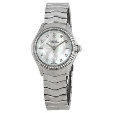 Ebel Wave Mother of Pearl Diamond Dial Ladies Watch 1216194