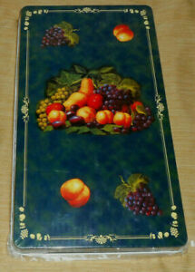 2 Piece Green Fruit Medley Red Apple Grape Rectangle Stove Top Gas Burner Covers