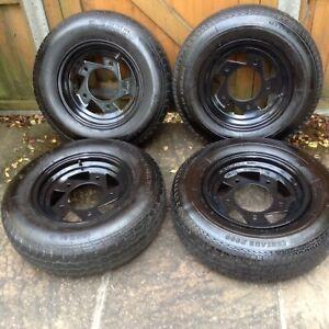 VW SplitscreenBus/Trike/Buggy/Baja/Beetle - Wide 5 Rims & Tyres185R14 (set of 4)