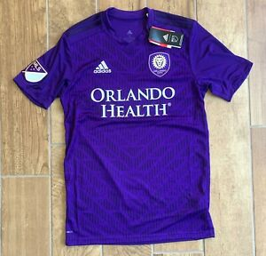 New Mens Adidas Orlando City S.C. Soccer Jersey MLS Home Purple 7417A Sz S