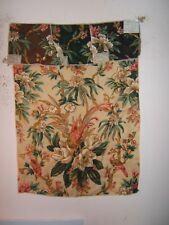 """Rose Cumming Chintzes """"Charleston Garden"""" vintage floral remnant color black"""