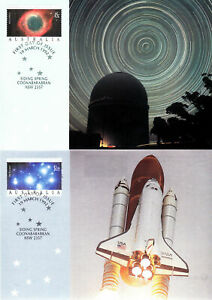 International Space Year 1992 Set of 3 FDC Maxi Maximum Card