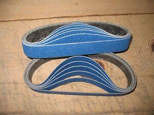 "12- 1 x 18""  sanding belts 80 grit Zirconia fits Ken Onion knife grinder ATTACH."