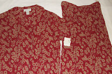 NWT Maggie McNaughton Brick Red & Tan Floral Skirt Set Sz 1X 100% Polyester