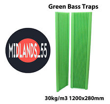 2 Pro GREEN Acoustic Foam 3 ft 11¼ in (1200mm) Bass Traps Sound Treatment