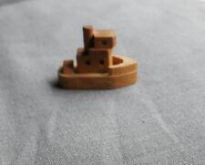 jolie figurine en bois - bateau - paquebot de croisière - idée cadeau