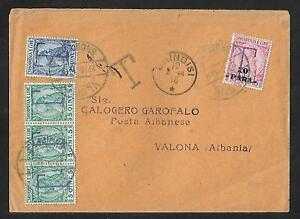 ALBANIA GREECE TO ITALY AND RETURN  TAX COVER 1914