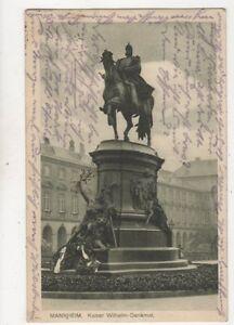 Mannheim Kaiser Wilhelm Denkmal Germany 1918 Postcard 945a