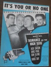 "It's You or No One ""Romance on the High Seas"" Doris Day Sheet Music"