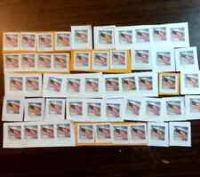 50 UNCANCELLED FOREVER U.S. POSTAGE STAMPS (Flags) ON PAPER