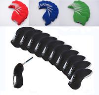 10 Pcs/set Plain Golf Iron Club Head Covers, TaylorMade, Callaway, Ping, MIZUNO