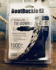 """Boatbuckle Transom Tie-Down 2"""" x 4' Stainless F12066"""