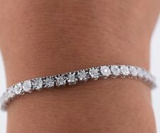 Ladies 10k White Gold & Diamond Tennis Bracelet 1ct