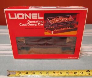 VINTAGE NOS LIONEL #6-9398 OPERATING COAL/DUMP CAR w/ ORIGINAL BOX
