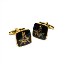 Masonic Black and Golden Cufflinks X2M006