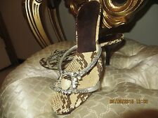 Beautiful Pelle Moda silver leather snake shoes 7