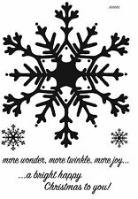 Woodware Clear Singles Stamp Christmas 2017 - Huge Snowflake JGS522