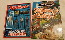 Two Top Gear Books: 'The Official Annual 2012' (with poster) and 'Where's Stig?'