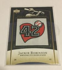 2007 Upper Deck Premier Stitchings Jackie Robinson Patch 10/10! Last One Rare 42