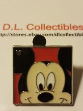 Disney Mickey Mouse Hidden Mickey Mouse Face in Red Square Pin