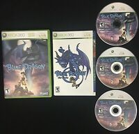 Blue Dragon (Microsoft Xbox 360, 2007) Video Game 3 Disc Edition TESTED COMPLETE