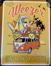 Weezer Summer Tour Yellow Mustard 2016 Concert Print Poster