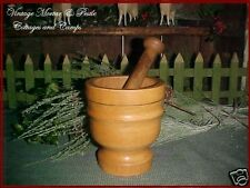 Nice Condition! Vintage Wood Mortar and Pestle Made In Italy Warm Patina