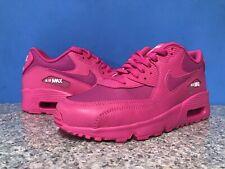 Nike Air Max 90 LTR Leather Laser Fuchsia Sz 6.5 Youth GS / 8 Womens 833376-603