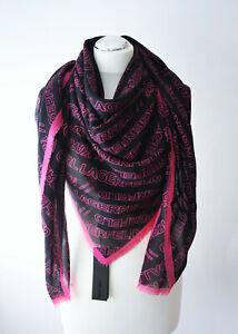 KARL LAGERFELD Schal Tuch schwarz pink 203W3303 NEU